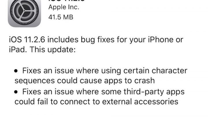 Apple Releases Important iOS 11.2.6 Update for Special Character Bug [source: forbes]
